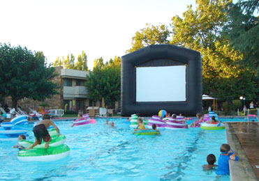 Inflatables Make Great Fundraiser Party Jump Rents Inflatable Movie Screens Bounce Houses