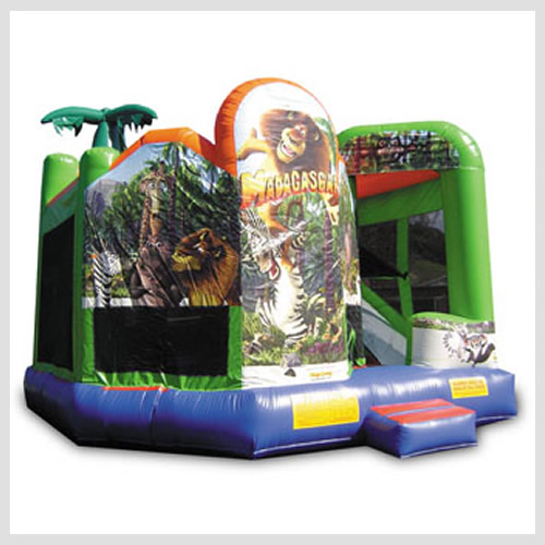 Madagascar Combo Party Jump Inflatable Games